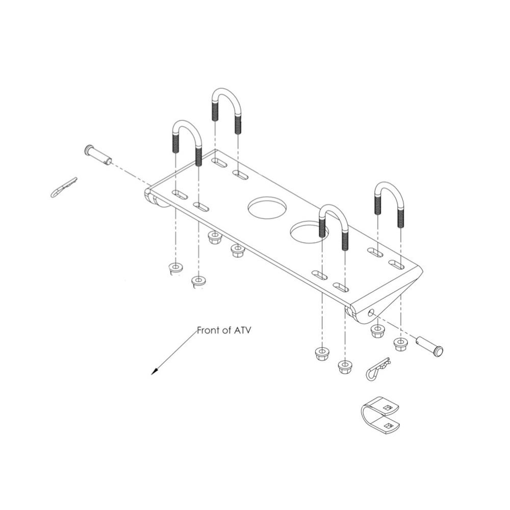 Mid-Body ATV Plow Mount Kit