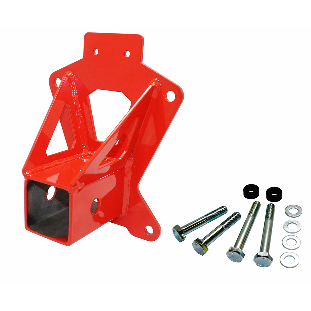 Red Heavy-Duty Rear Receiver Hitch