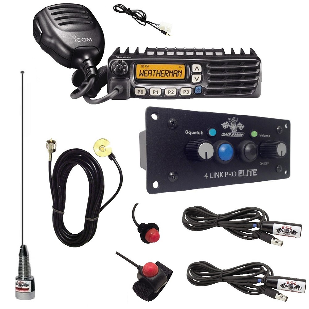 2-Way Radio Intercom Kit with Bluetooth & DSP for 2 Seats