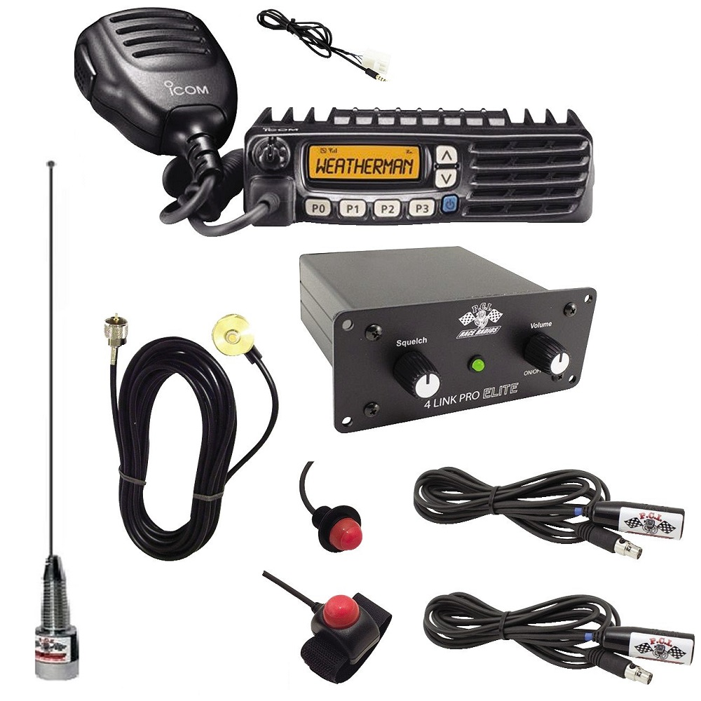 2-Way Radio Intercom Kit for 2 Seats