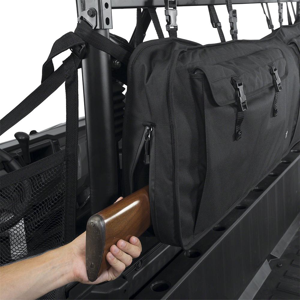 Black UTV Double Gun Carrier