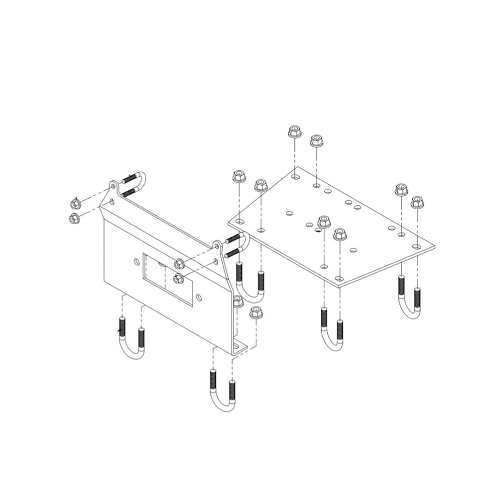 7 Gauge Steel Winch Mounting Kit