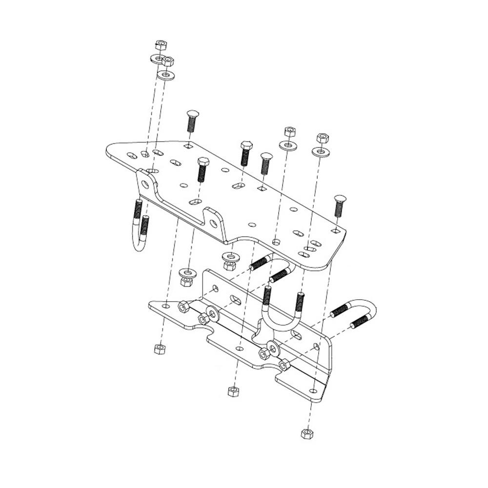 Kawasaki Brute Force 650 Performance Parts Accessories 2006 Wiring Diagram 7 Gauge Steel Winch Mounting Kit