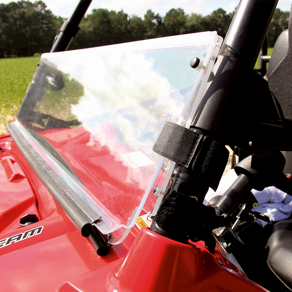 Hard-Coated Polycarbonate 3-in-1 Folding Windshield