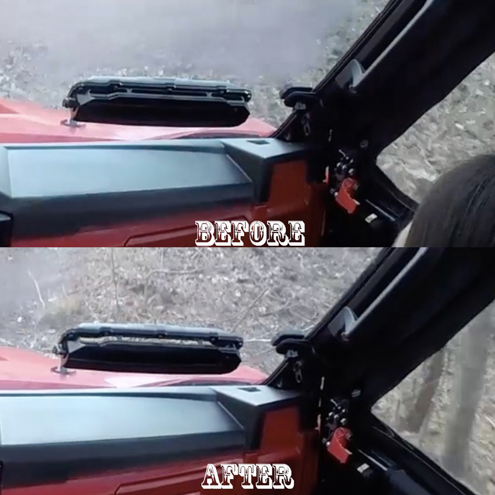 """0.220"""" Polycarbonate Vented-Windshield"""