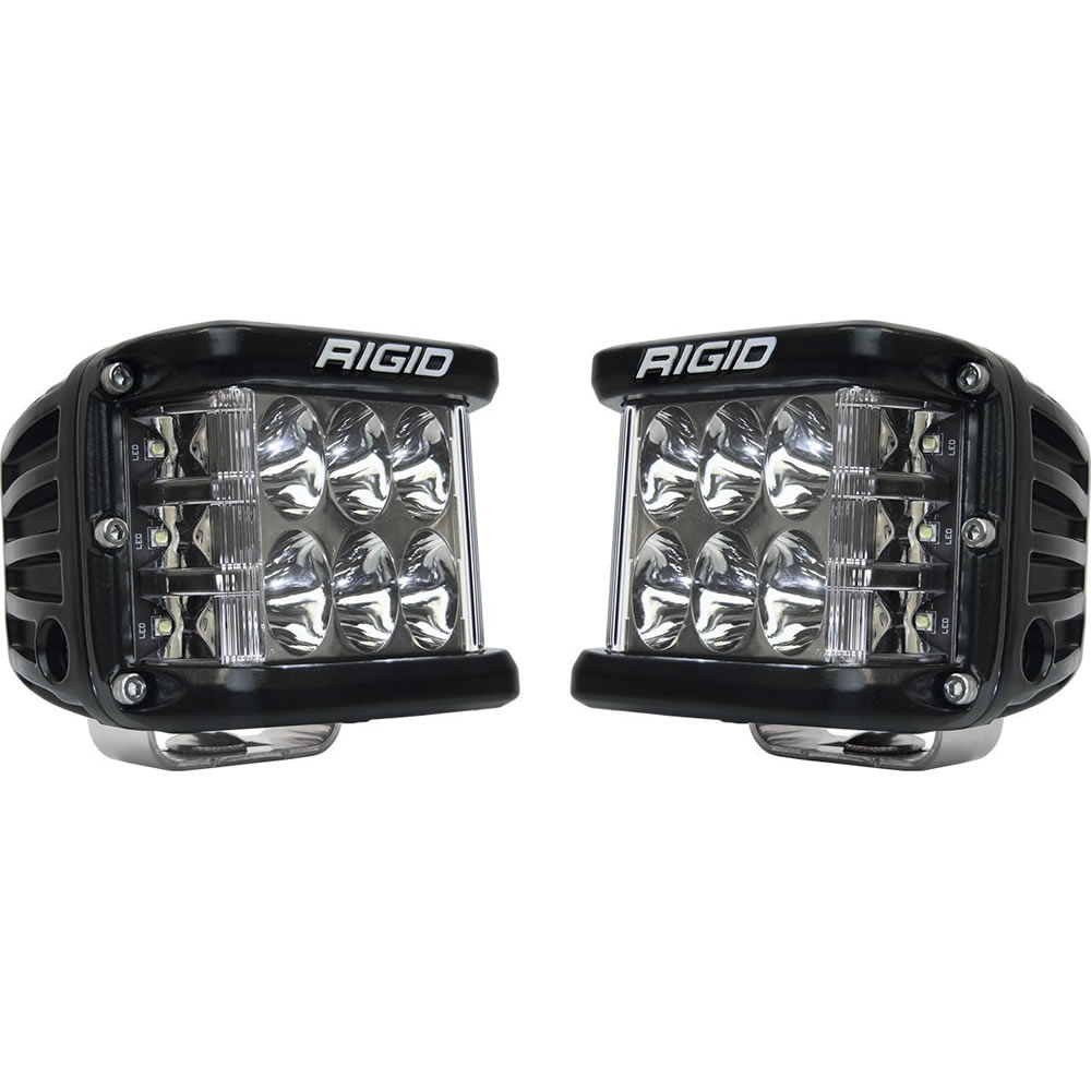 Black Side Shooter Driving Light Pair