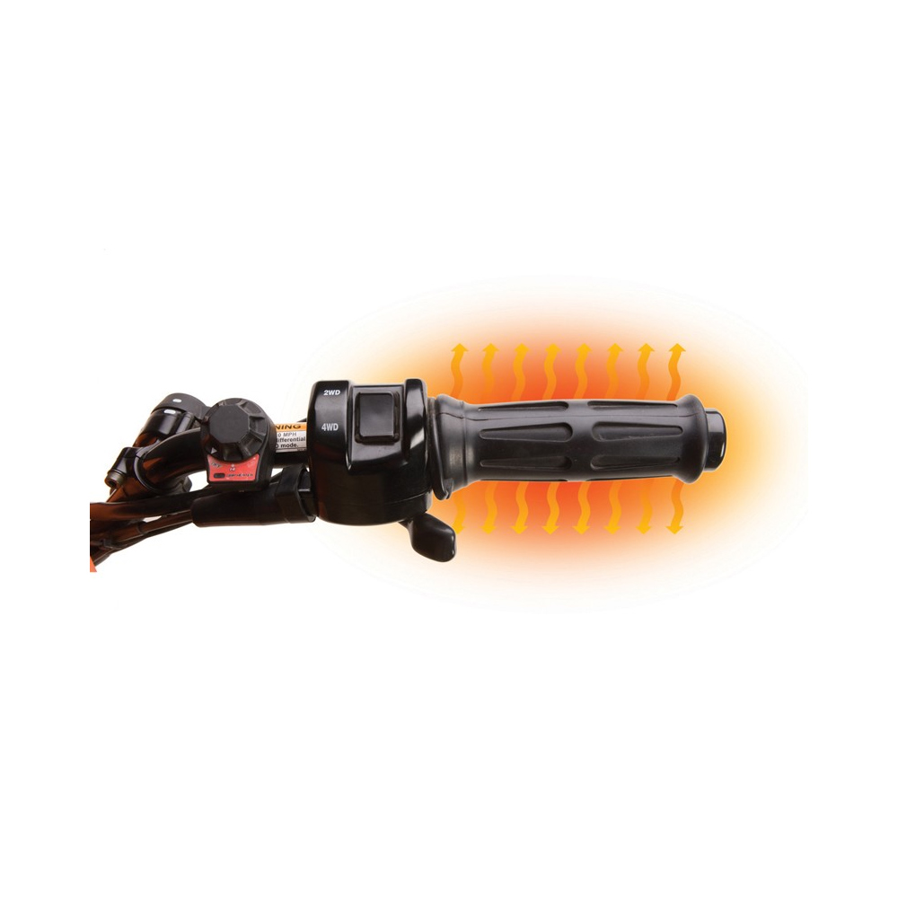 Heated Handlebar Grips with Handlebar Mounted Dial Switch