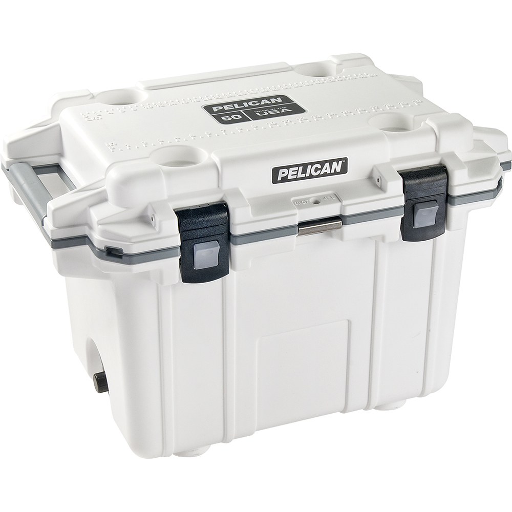 White & Grey 50 Quart Injection-Molded Cooler