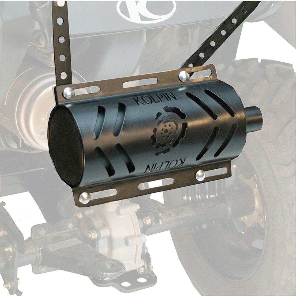 Kolpin Muffler Exhaust Silencer Stealth 2.0 w// Heat Shield Universal ATV UTV