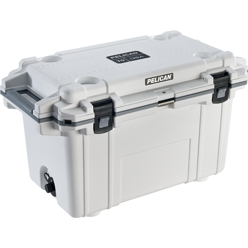 White & Grey 70 Quart Injection-Molded Cooler