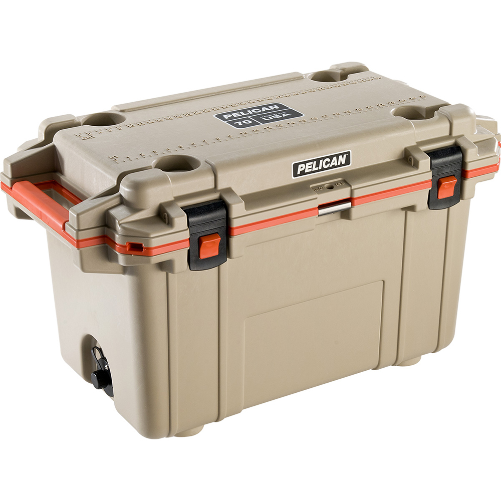 Tan & Orange 70 Quart Injection-Molded Cooler