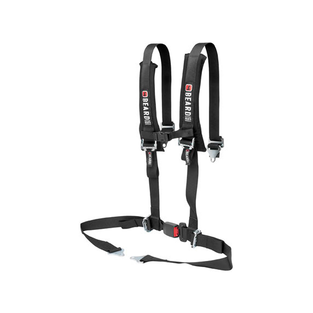 2X2 Automotive Buckle Style 4-Point Safety Harness with Pads