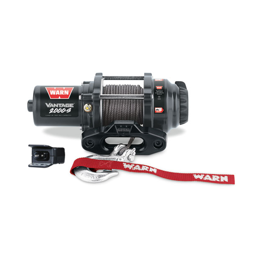 2000 LB Capacity Winch with 50' Synthetic Rope