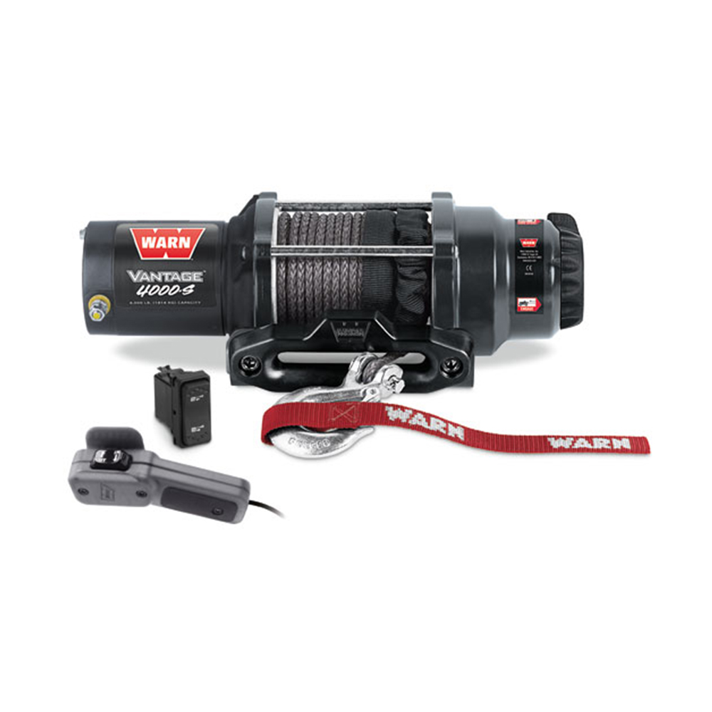 4000 LB Capacity Winch with 50' Synthetic Rope