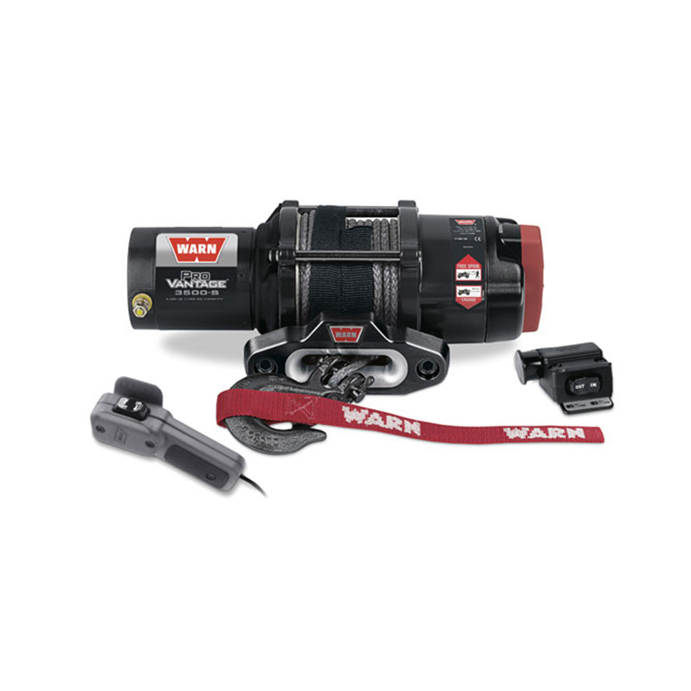 3500 LB Capacity Winch with 50' Synthetic Rope