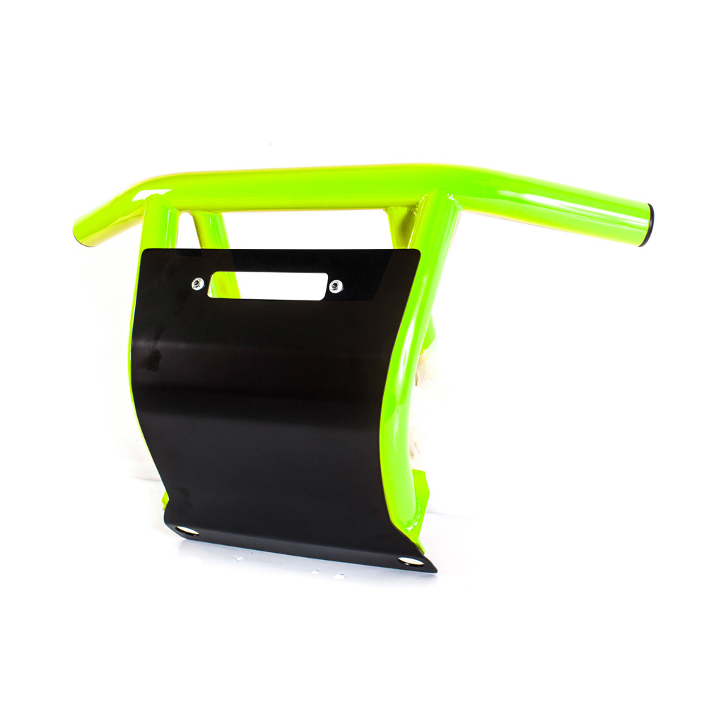 Venom Green Front Bumper with Skid Plate