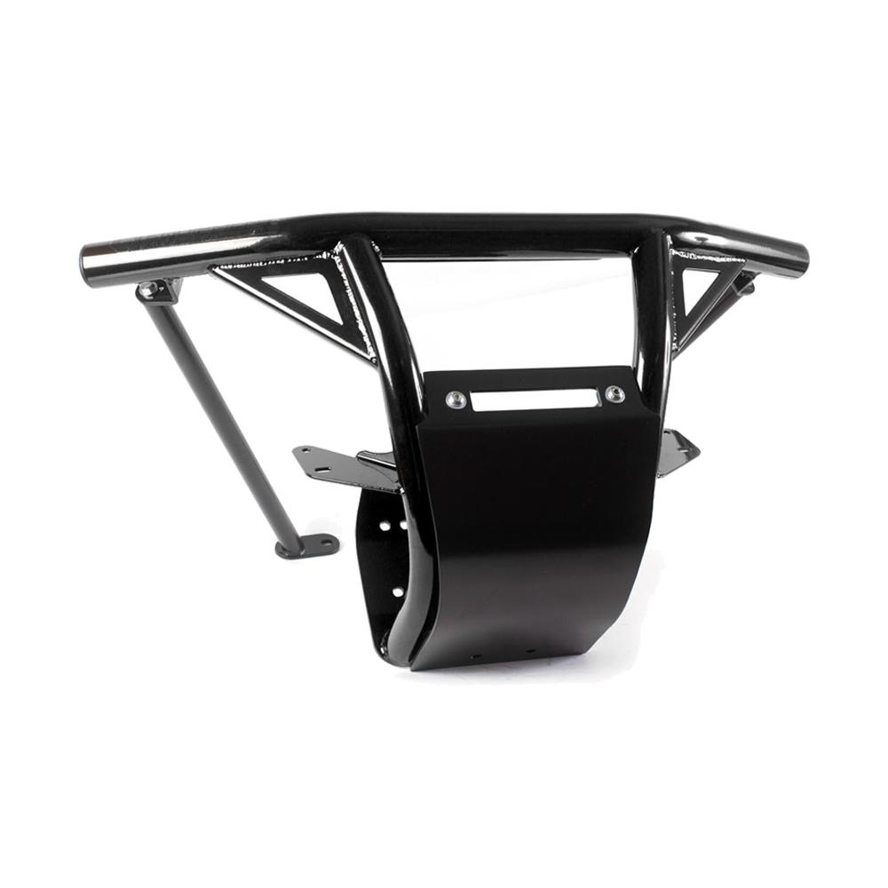 Black.Steel Front Bumper with Skid Plate & LED Light Bar Mount