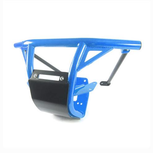 Octane Blue.Steel Front Bumper with Skid Plate & LED Light Bar Mount