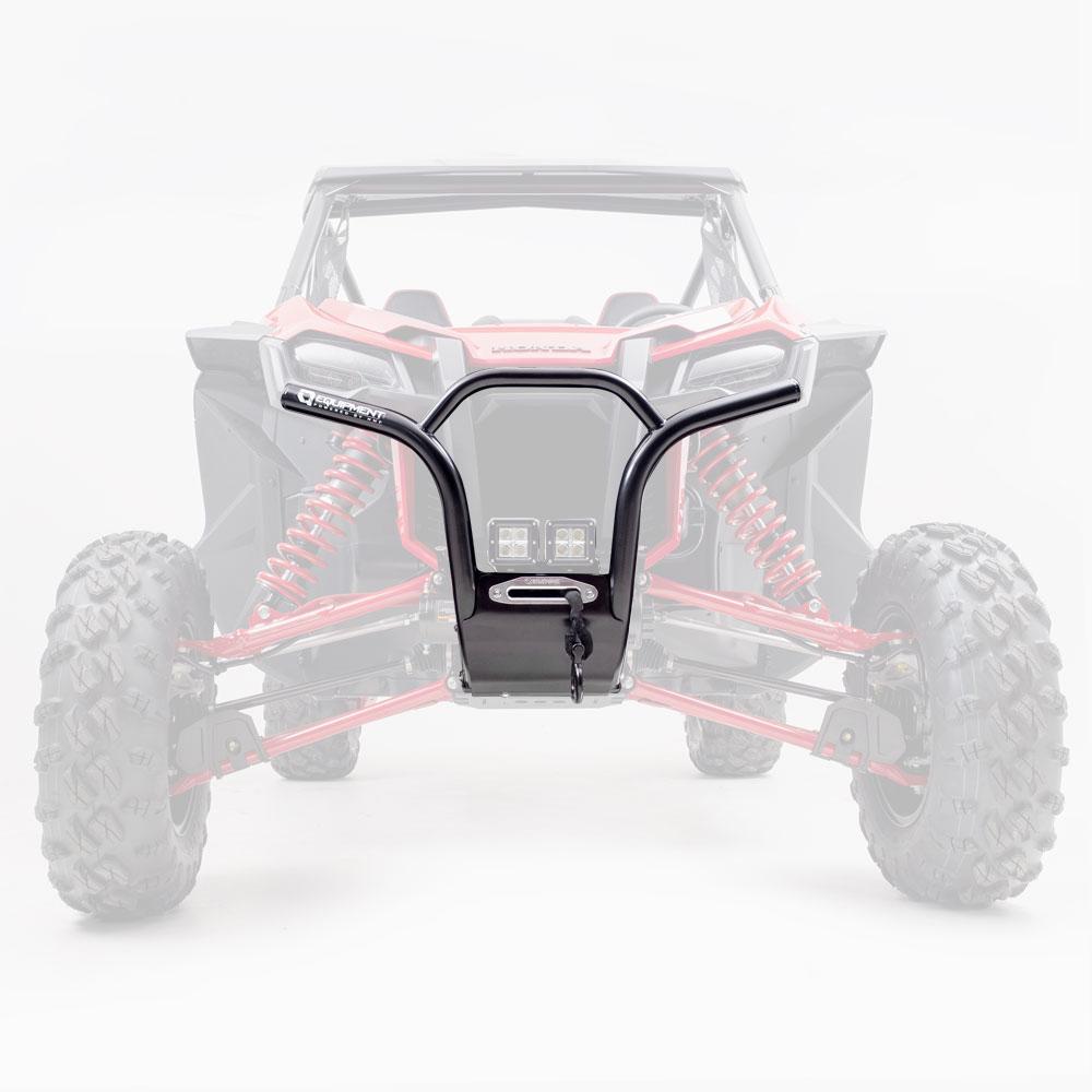 Black Heavy-Duty Front Steel Bumper
