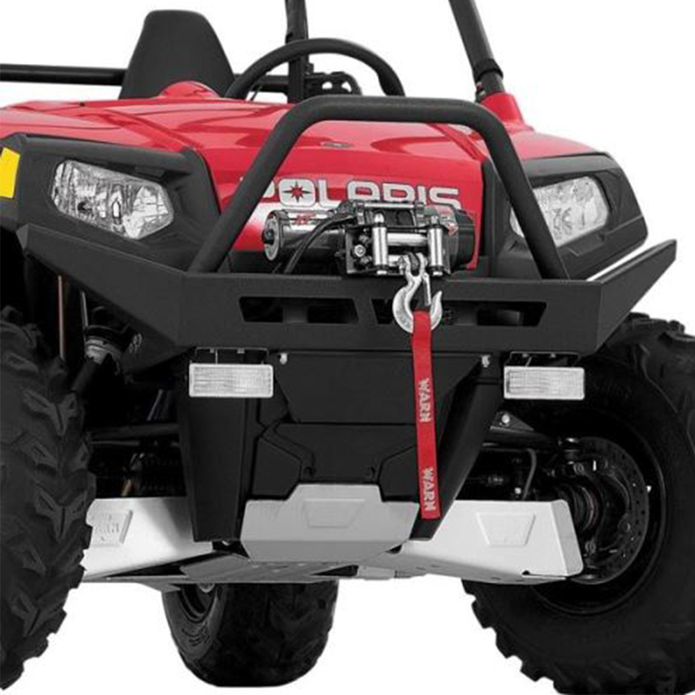 Steel Front Bumper with Built-In Winch Mount