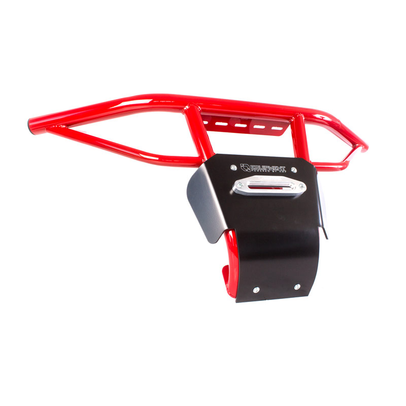Red UTV Steel Front Bumper with Skid Plate