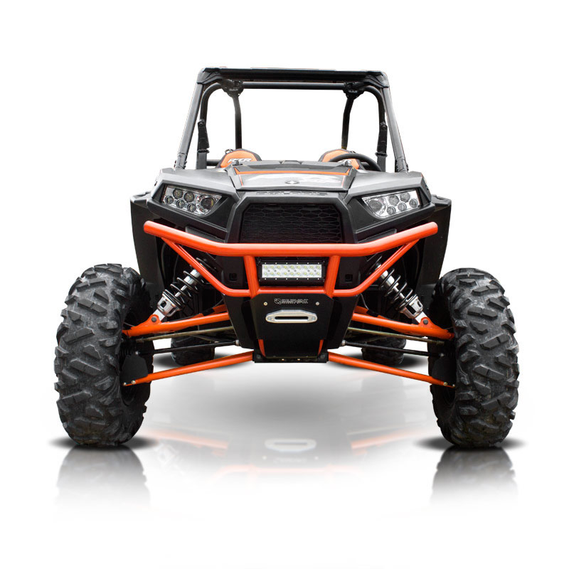 Blue UTV Steel Front Bumper with Skid Plate
