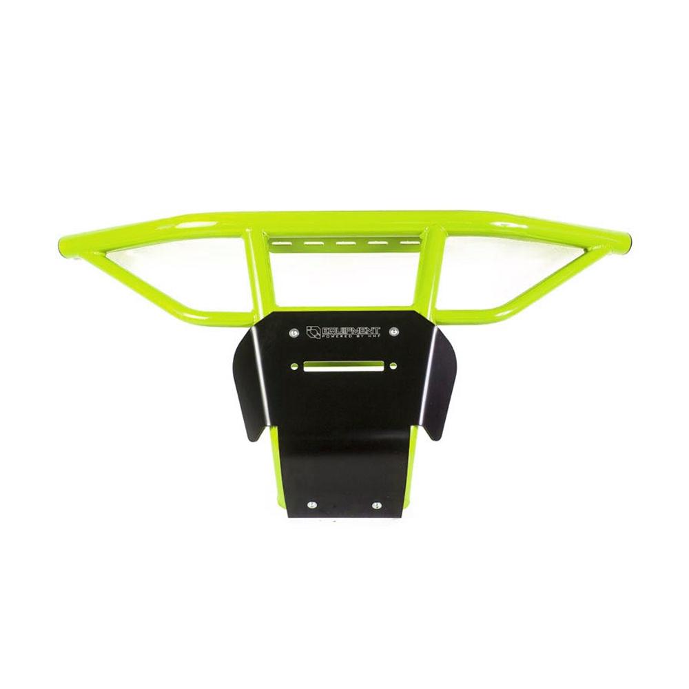 Venom Green UTV Steel Front Bumper with Skid Plate