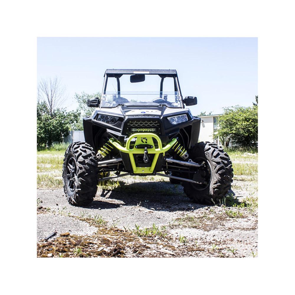 Venom Green Front Bumper with Winch Mount