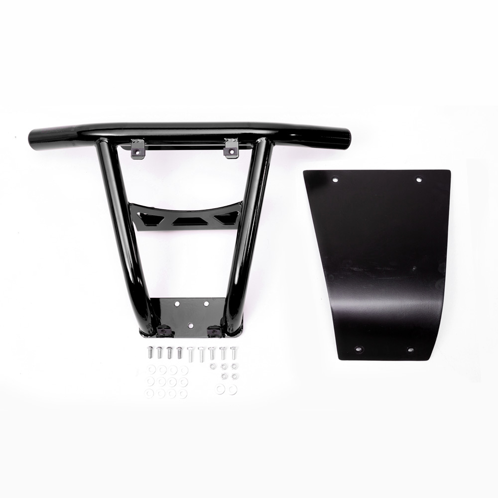 Black UTV Steel Front Bumper without fairlead hole