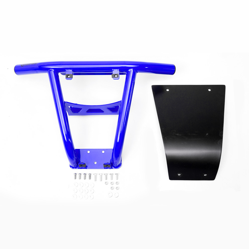 Blue UTV Steel Front Bumper without fairlead hole