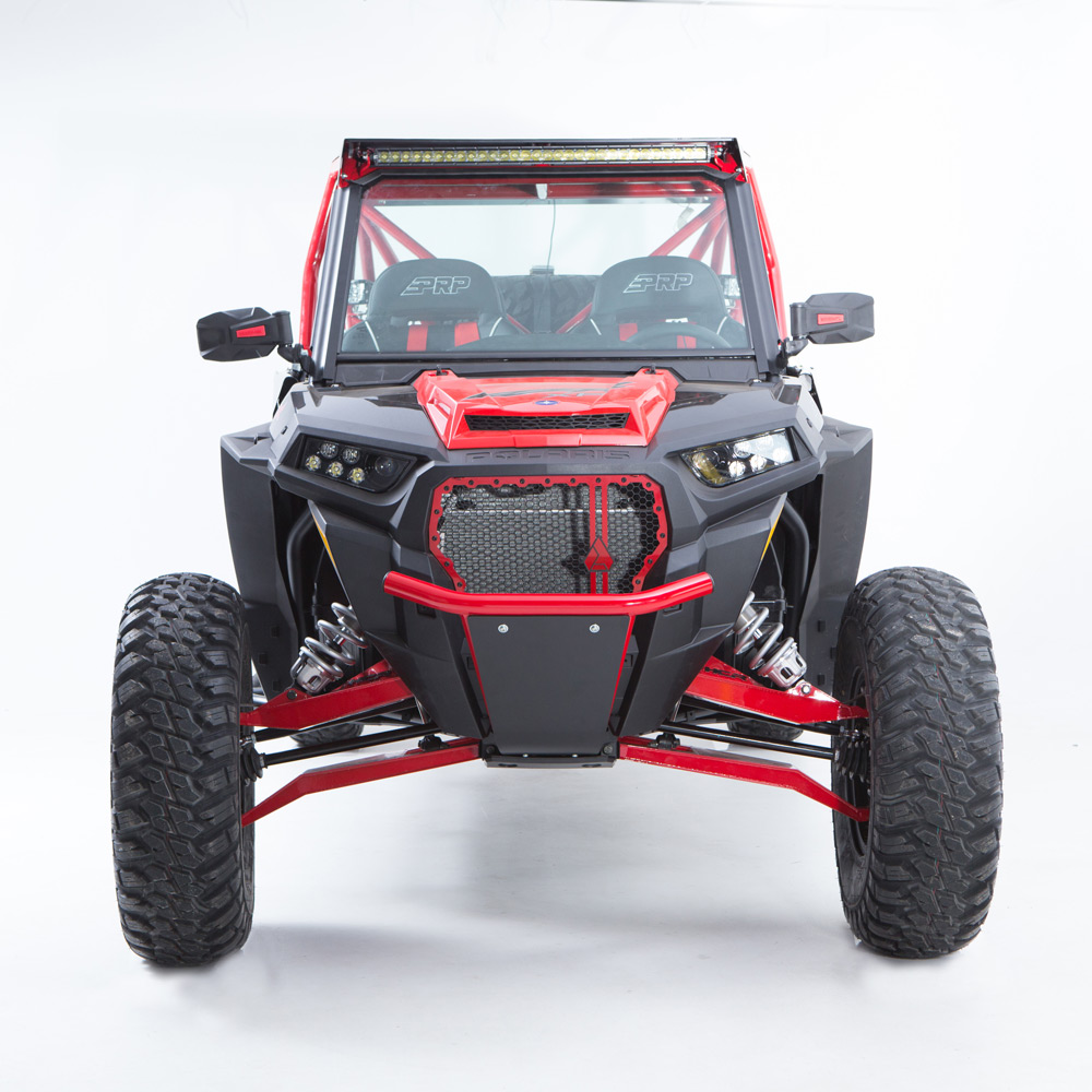 Red UTV Steel Front Bumper without fairlead hole