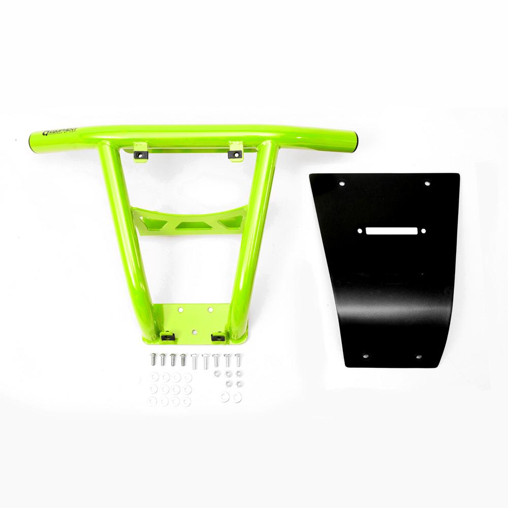Venom Green UTV Steel Front Bumper with fairlead hole