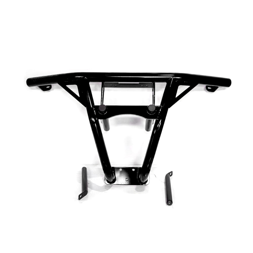Black UTV Steel Front Bumper with Skid Plate