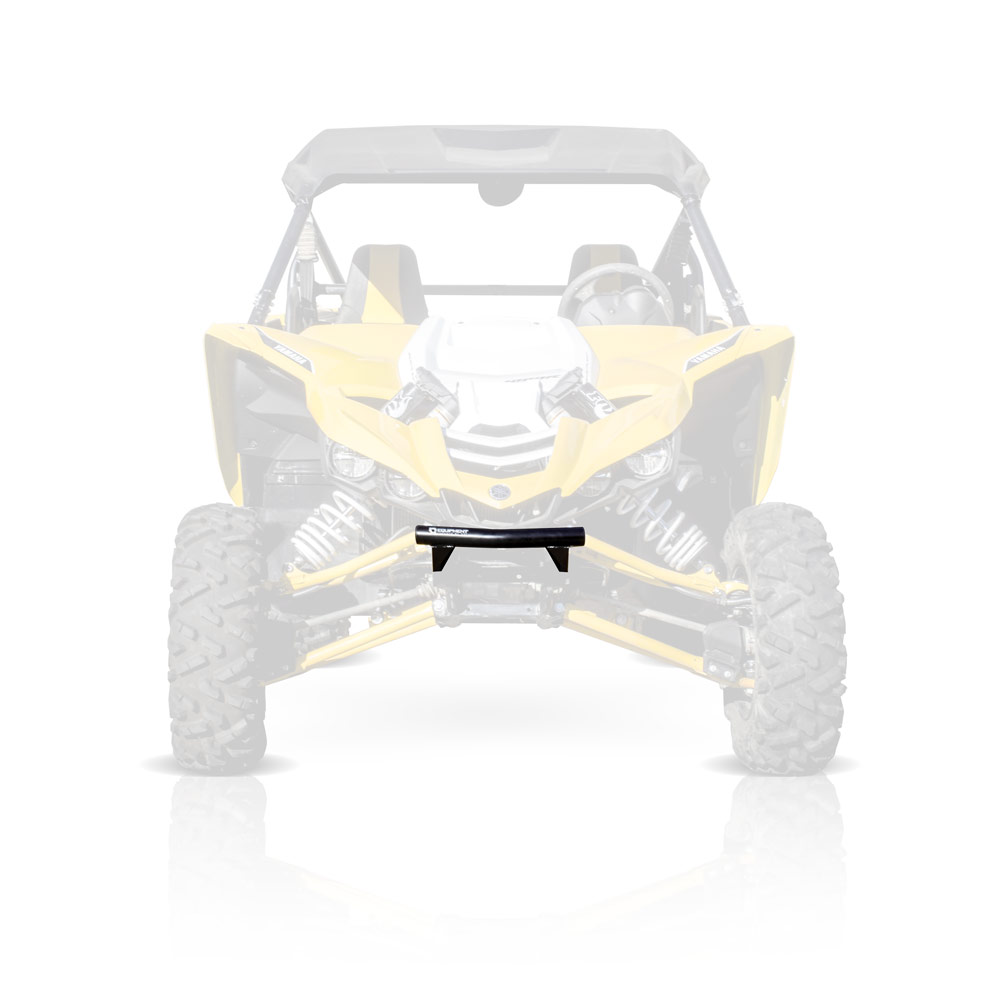 Black Front Bumper with Skid Plate