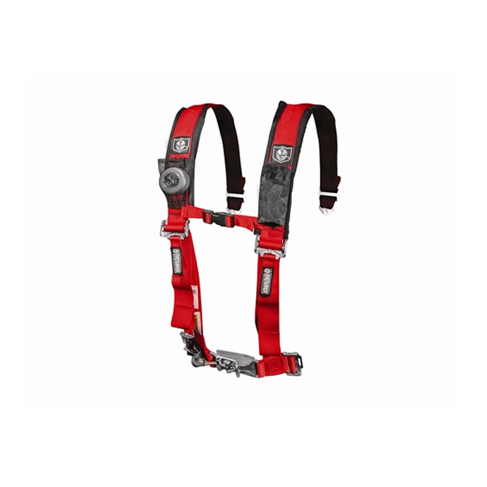 Red 4 Point Harness with 2