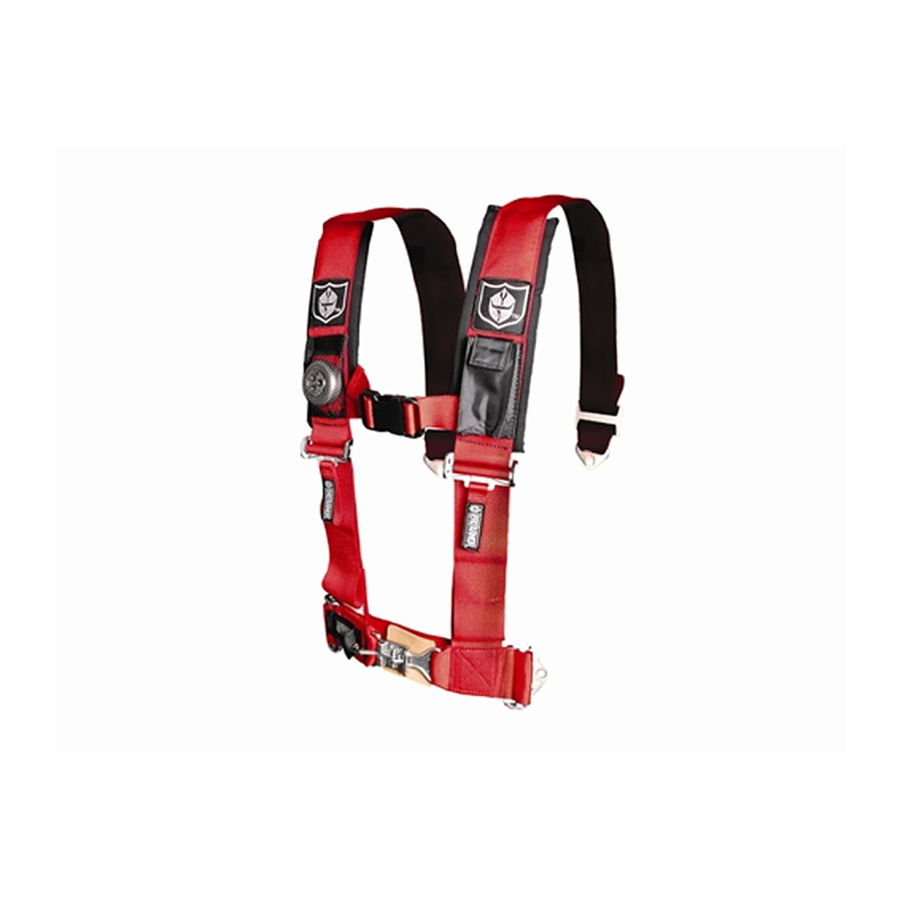 Red 4 Point Harness with 3