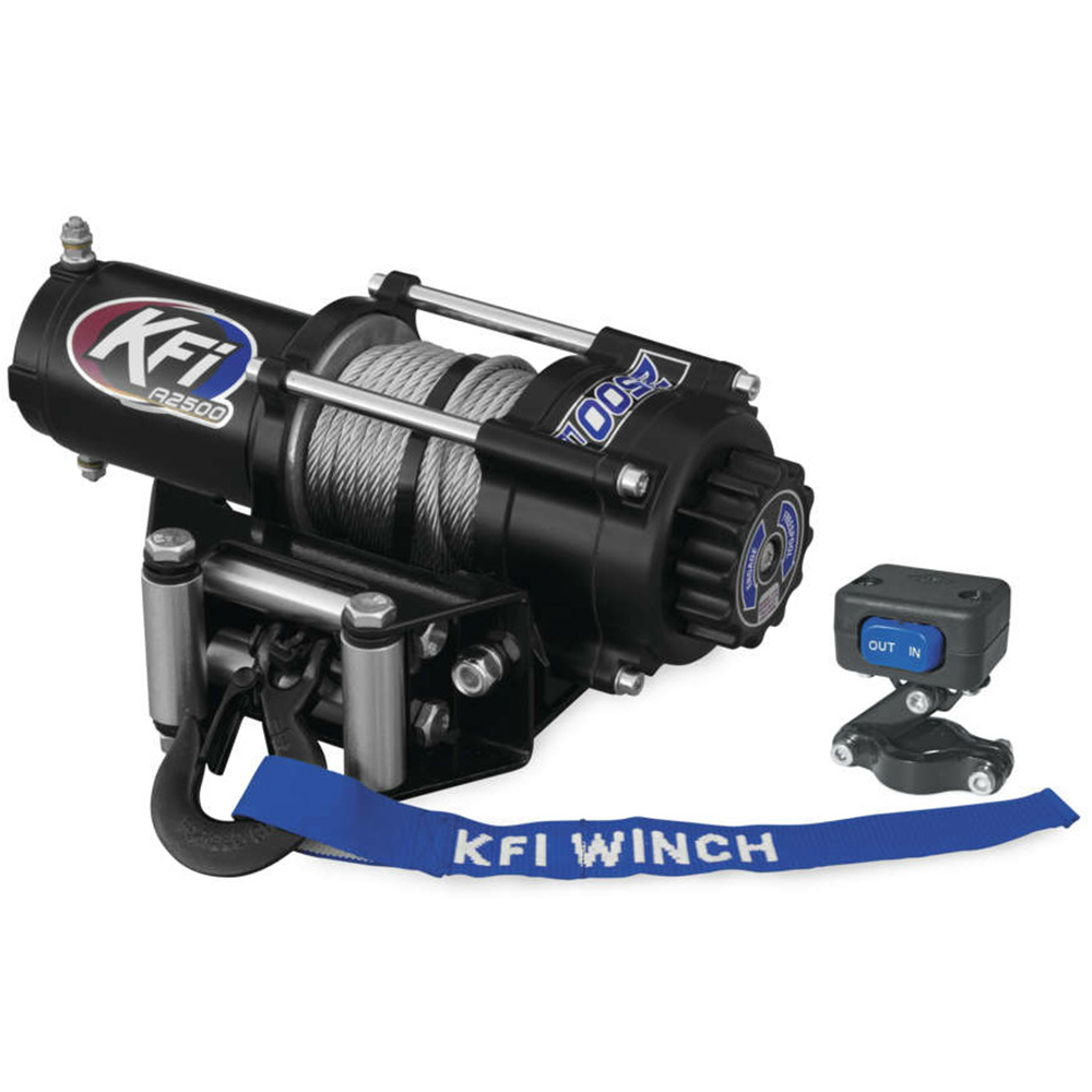 2500 LB Capacity Winch with 45.9' Wire Cable
