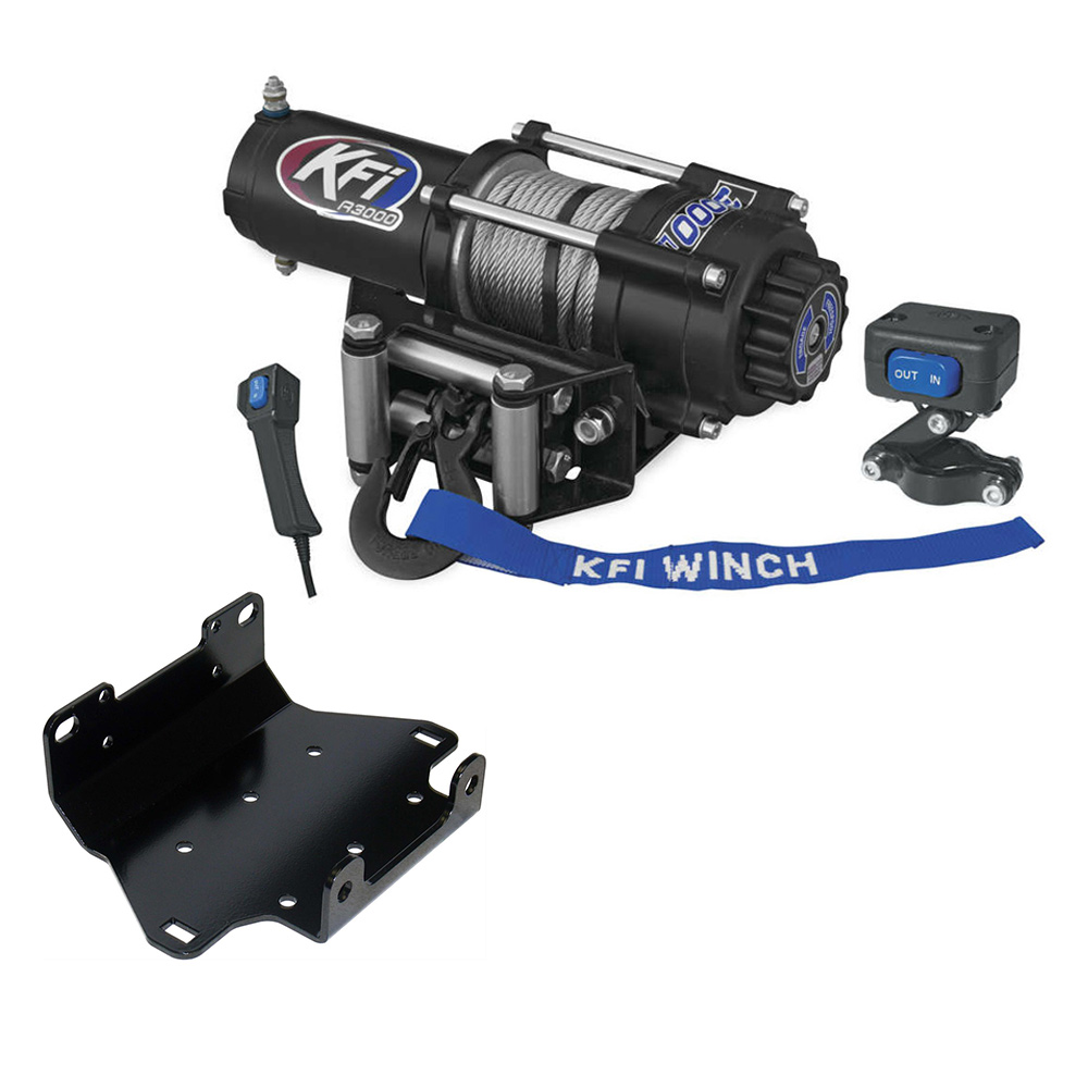 3000 lb KFI Winch Combo Yamaha Grizzly 700 2007-2015 Grizzly 550 2009-2014