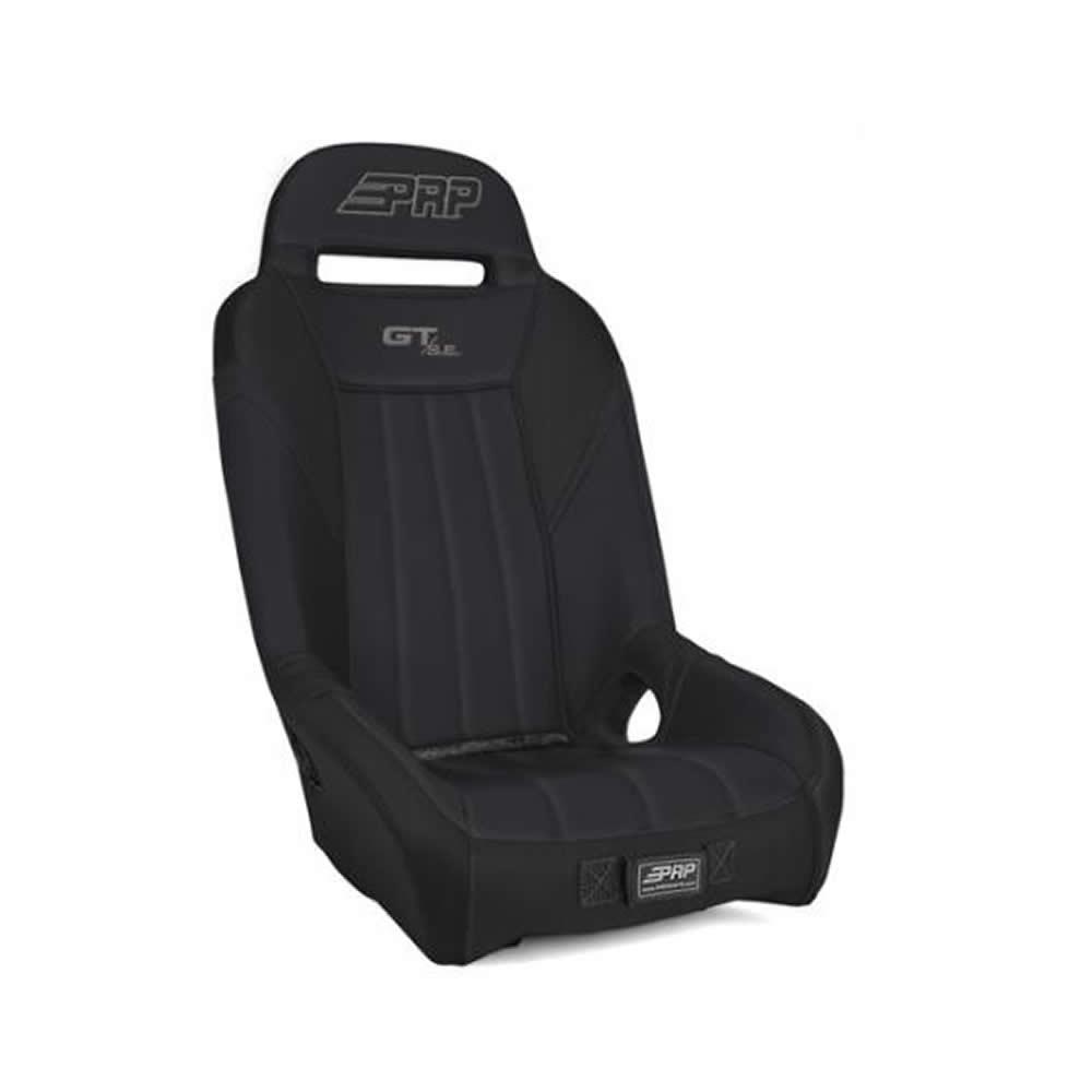 Black & Black Front Bucket Suspension Seat