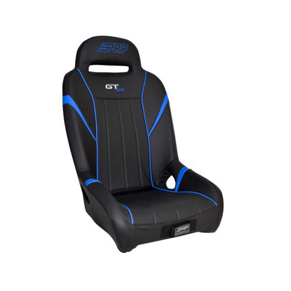 Black & Blue Front Bucket Suspension Seat
