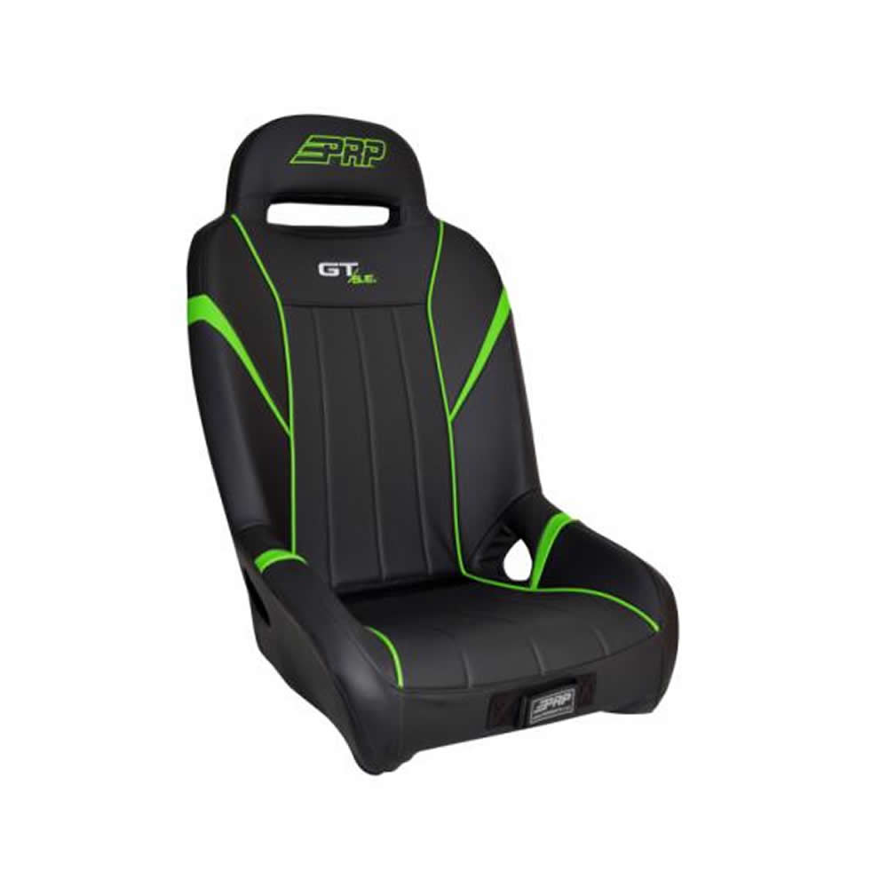 Black & Neon Green Front Bucket Suspension Seat