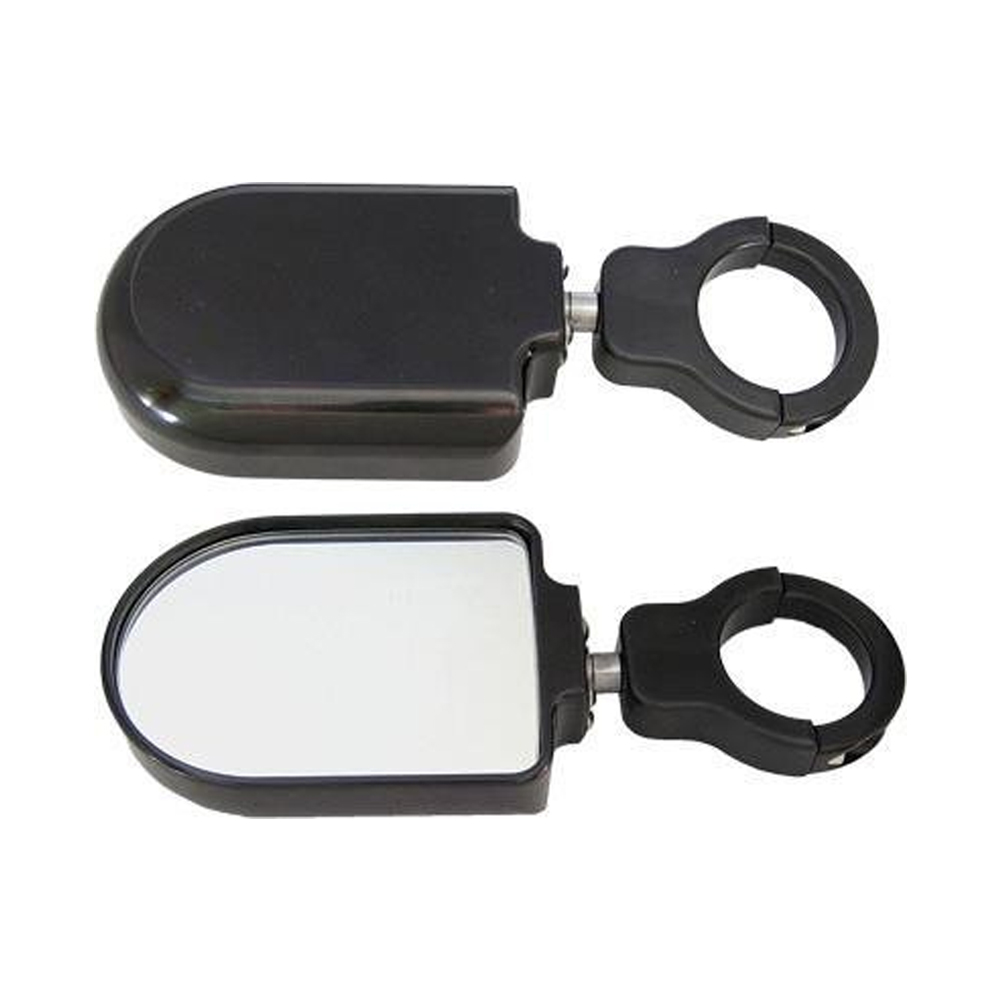 Black Anodized Billet Aluminum Side Mirrors