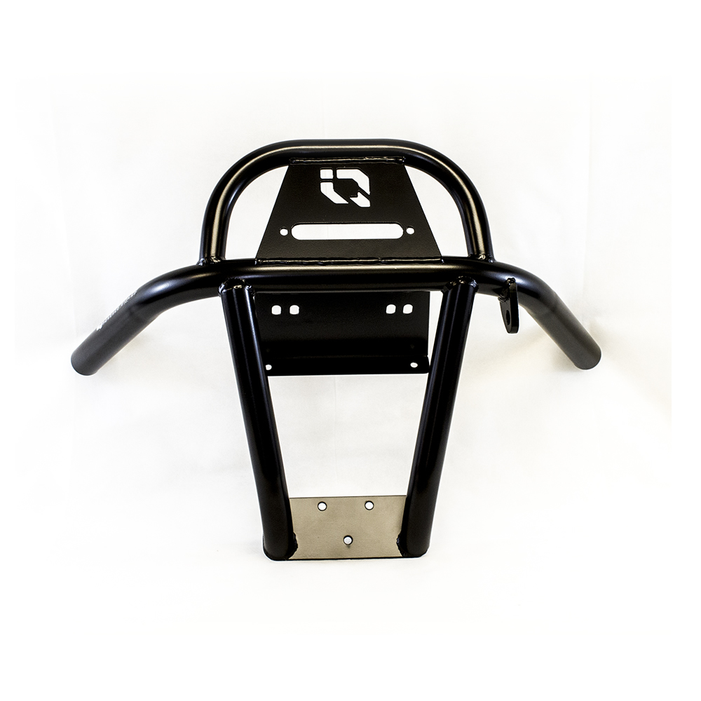Black Front Bumper with Winch Mount