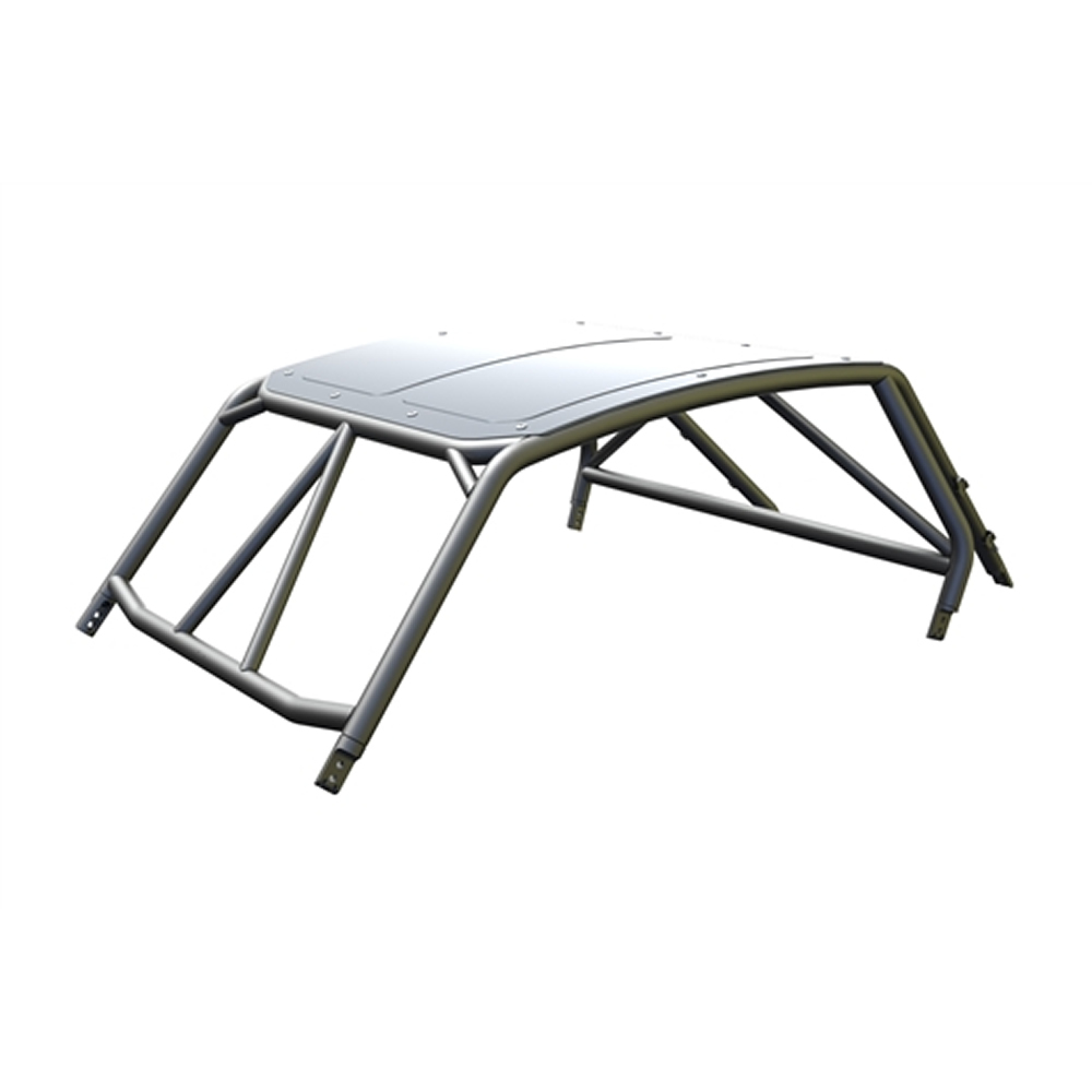 Raw Aluminum Race Cage with Roof & Tabs