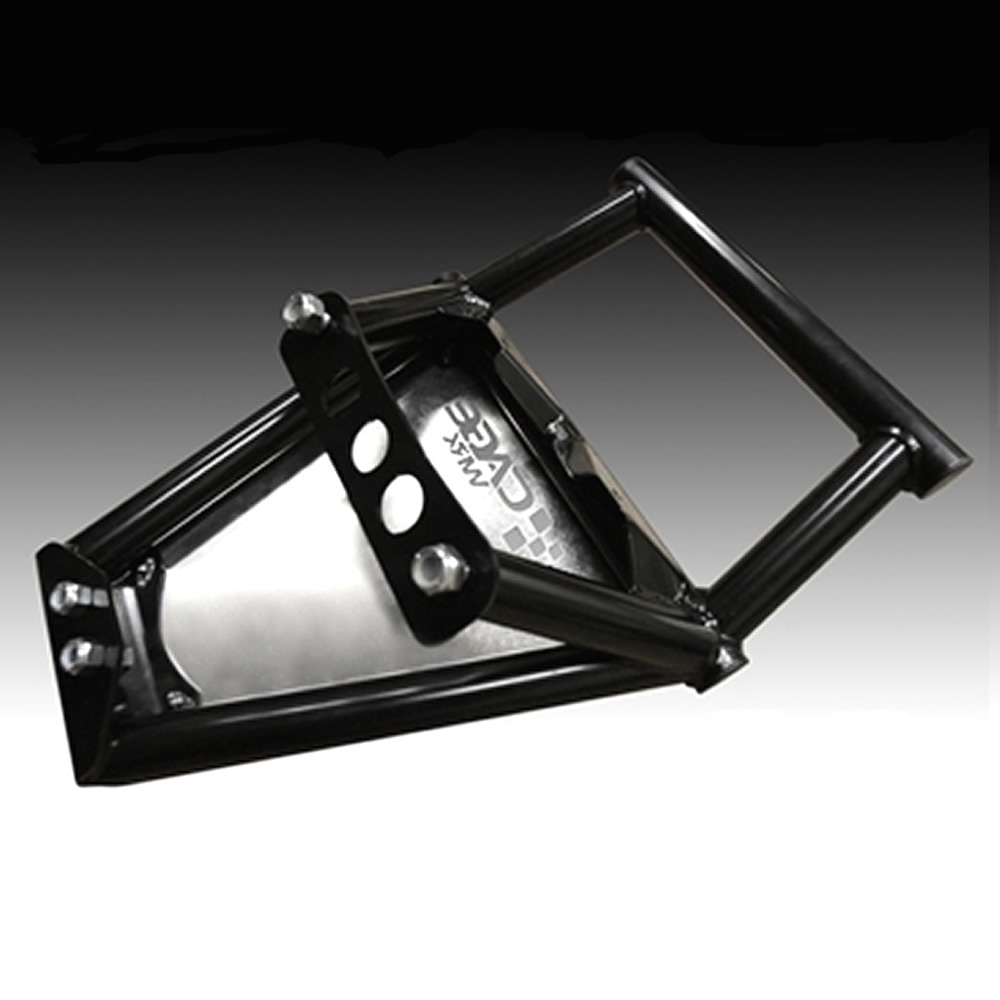 Black Aluminum Front Bumper with Skid Plate