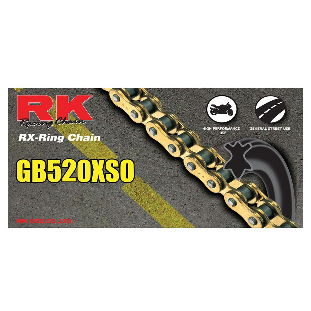 RK Racing Chain GB520XSO-110 110-Links Gold X-Ring Chain with Connecting Link
