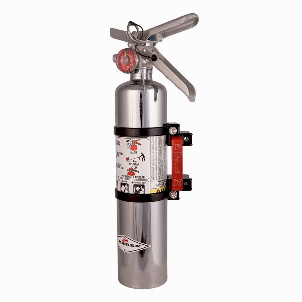 Black Quick Release Fire Extinguisher Mount with 2.5lb Extinguisher