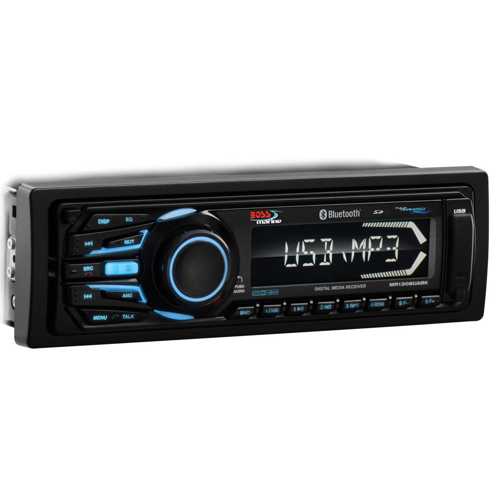 Black In-Dash 1-DIN MECH-LESS AM/FM/MP3 Player w/Detach Panel/Bluetooth®