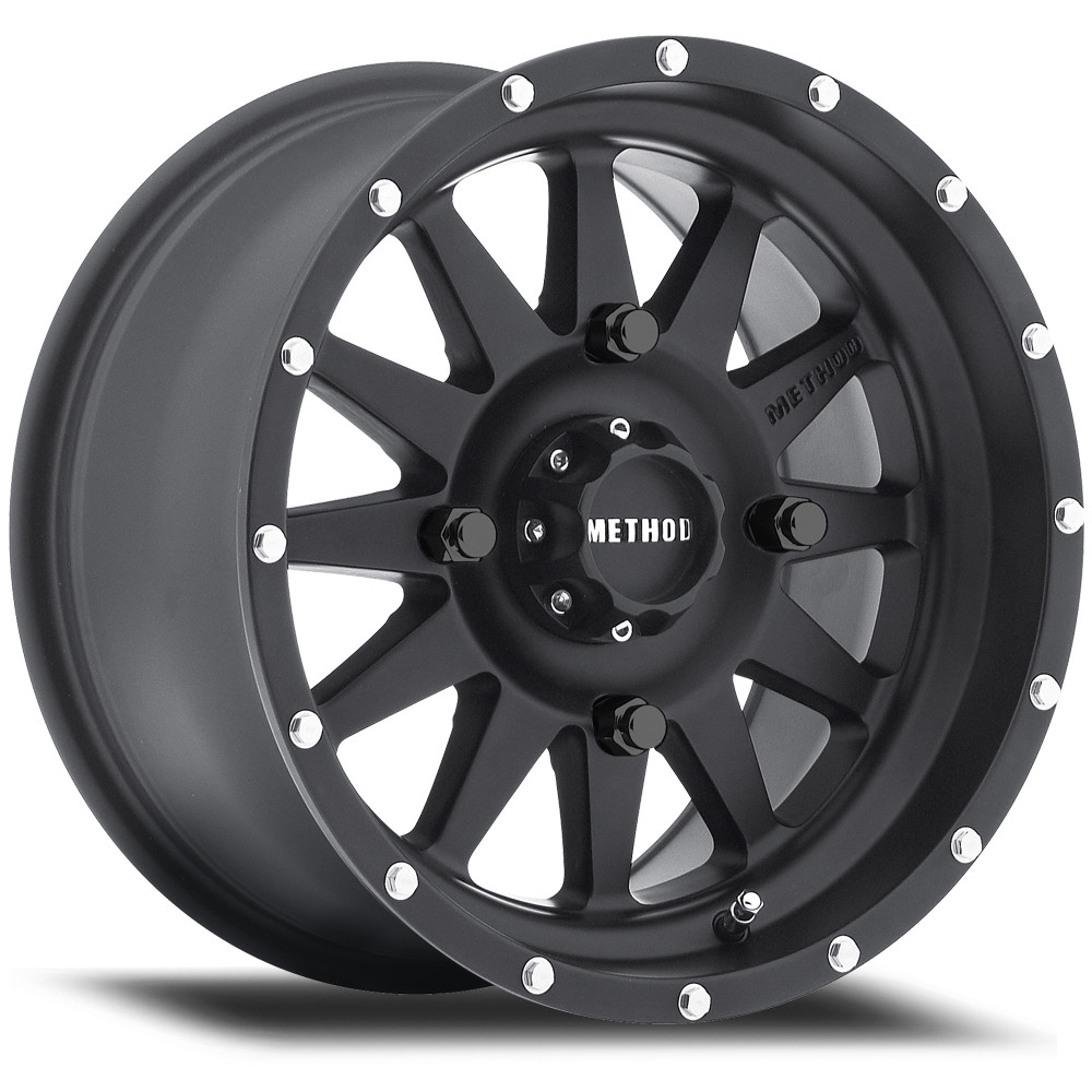 14X7 4X136 380S 5.3BS | Matte Black Standard UTV Wheels