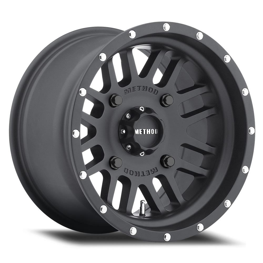 14X10 4X156 5.3BS -2OS | Matte Black Mesh UTV Wheels